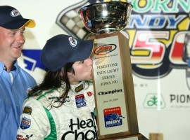 Ana in Victory Lane: Photo - Indycar.com