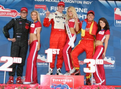 Edmonton Podium: Photo - Indycar.com