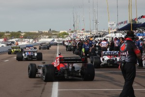 Pit Lane at St Pete for FP1 - Photo by Ron McQueeney, IndyCar.com