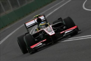HRT Cosworth Driver Bruno Senna