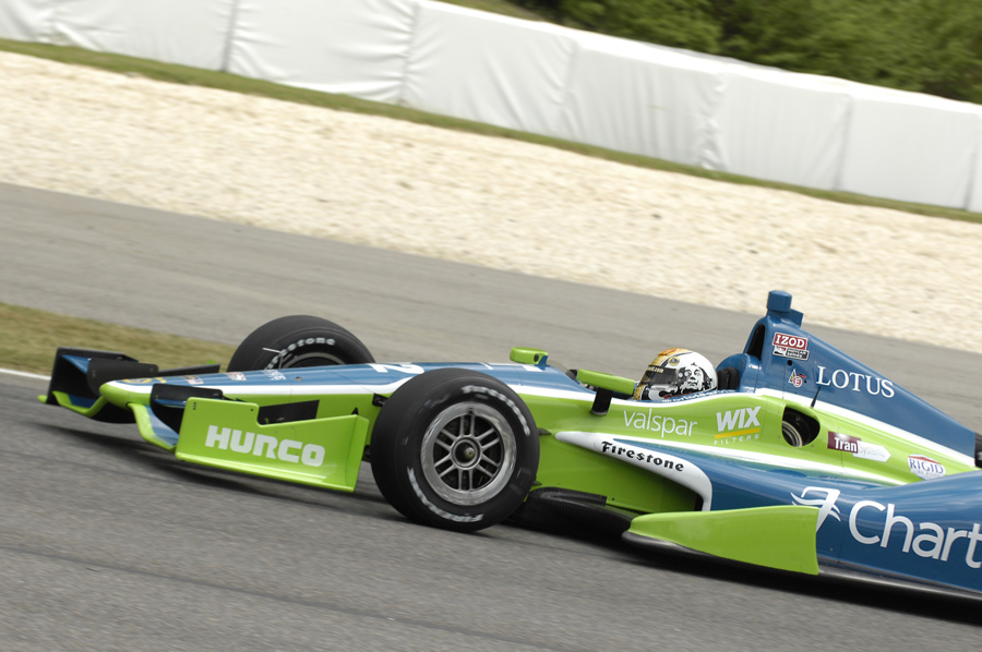 Oriol Servia IndyCar practice