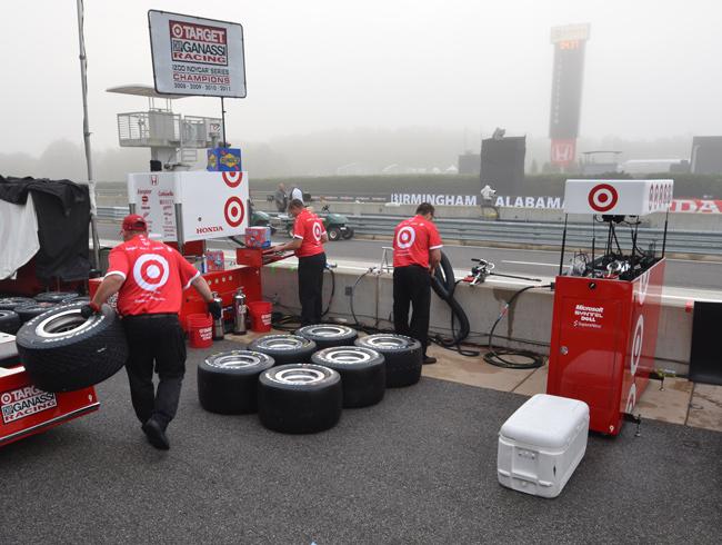 Target pit at Barber Motorsports Park