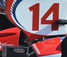 2012 Dallara DW12 rear wing and endplate