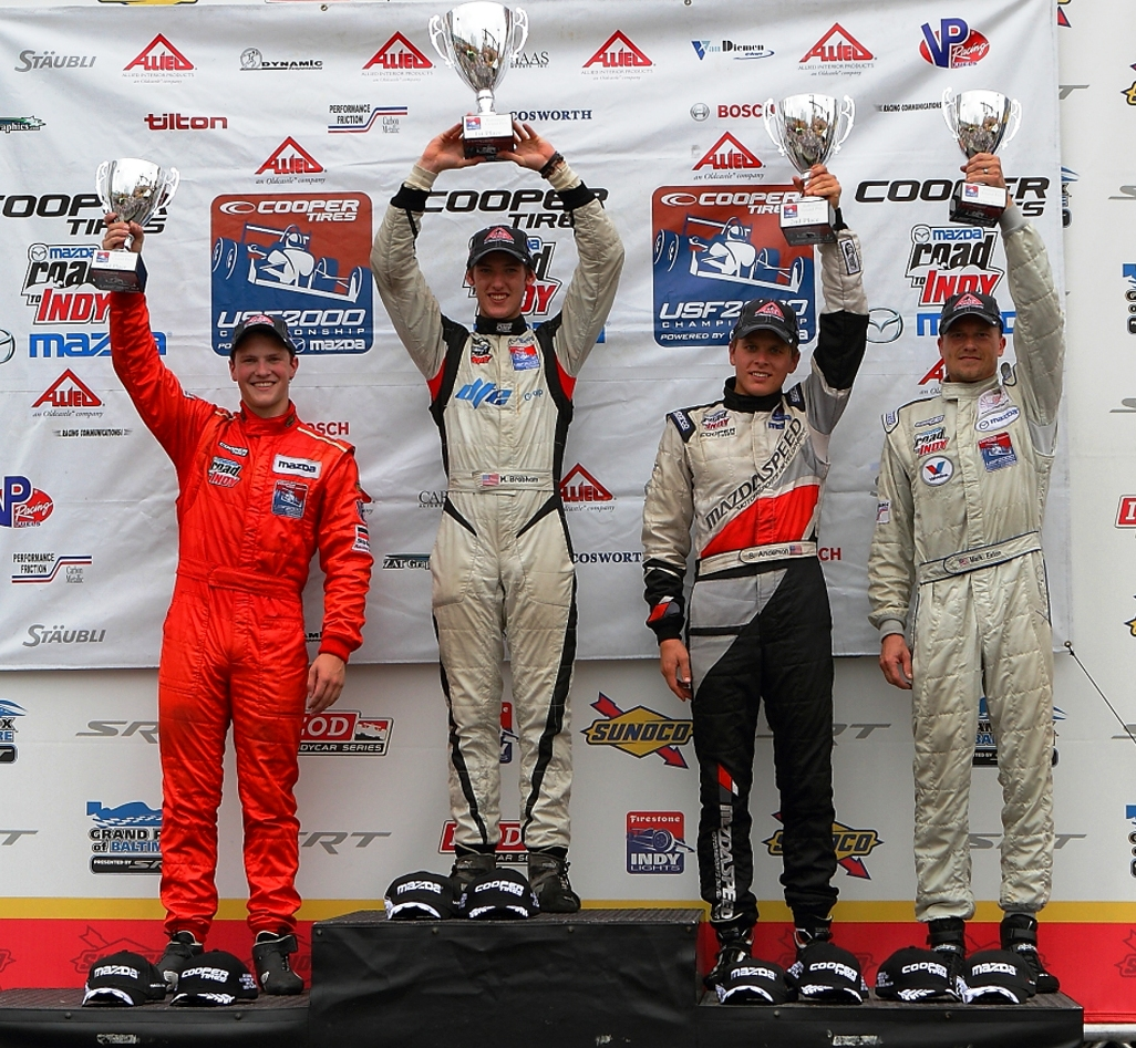 the cooper tires usf2000 national championship double header on the ...
