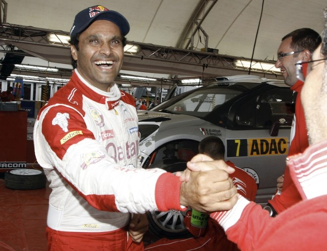Nasser Al-Attiyah and the Qatar World Rally Team at the 2012 ADAC Rallye Deutschland.  Photo courtesy of WRC.com.