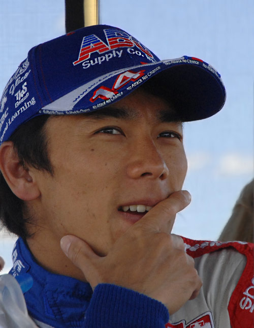 Takuma Sato of A. J. Foyt Racing team