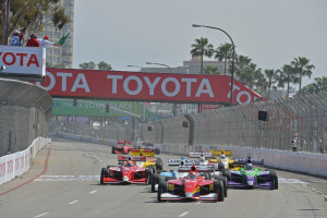Start of the Firestone Indy Lights race on the Streets of Long Beach -- Photo by John Cole, INDYCAR