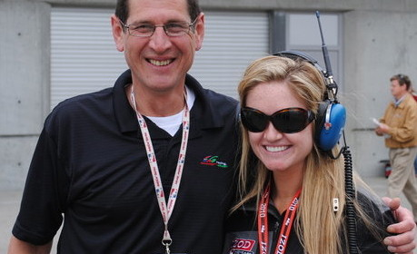 Mark with Lindy Thackston when she was a member of Versus On-Air talent for IndyCar. Possibly May 2011.