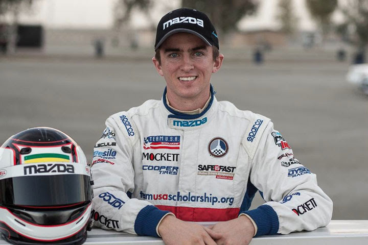 Joey Bickers at the 2013 Mazda Club Racer Shootout, credit Mike Ditz