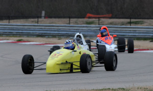 Bill Kephart leads Livingston, Cunningham in Formula F. Credit: Mark Weber