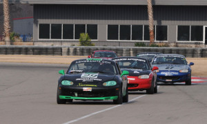 Berry leads his Spec Miata rivals at NOLA. Credit: Mark Weber
