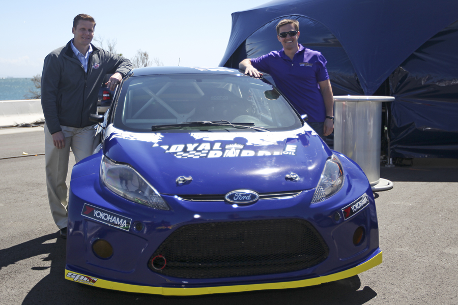 Royal Purple's Randy Fisher and RBGRC Driver Steve Arpin