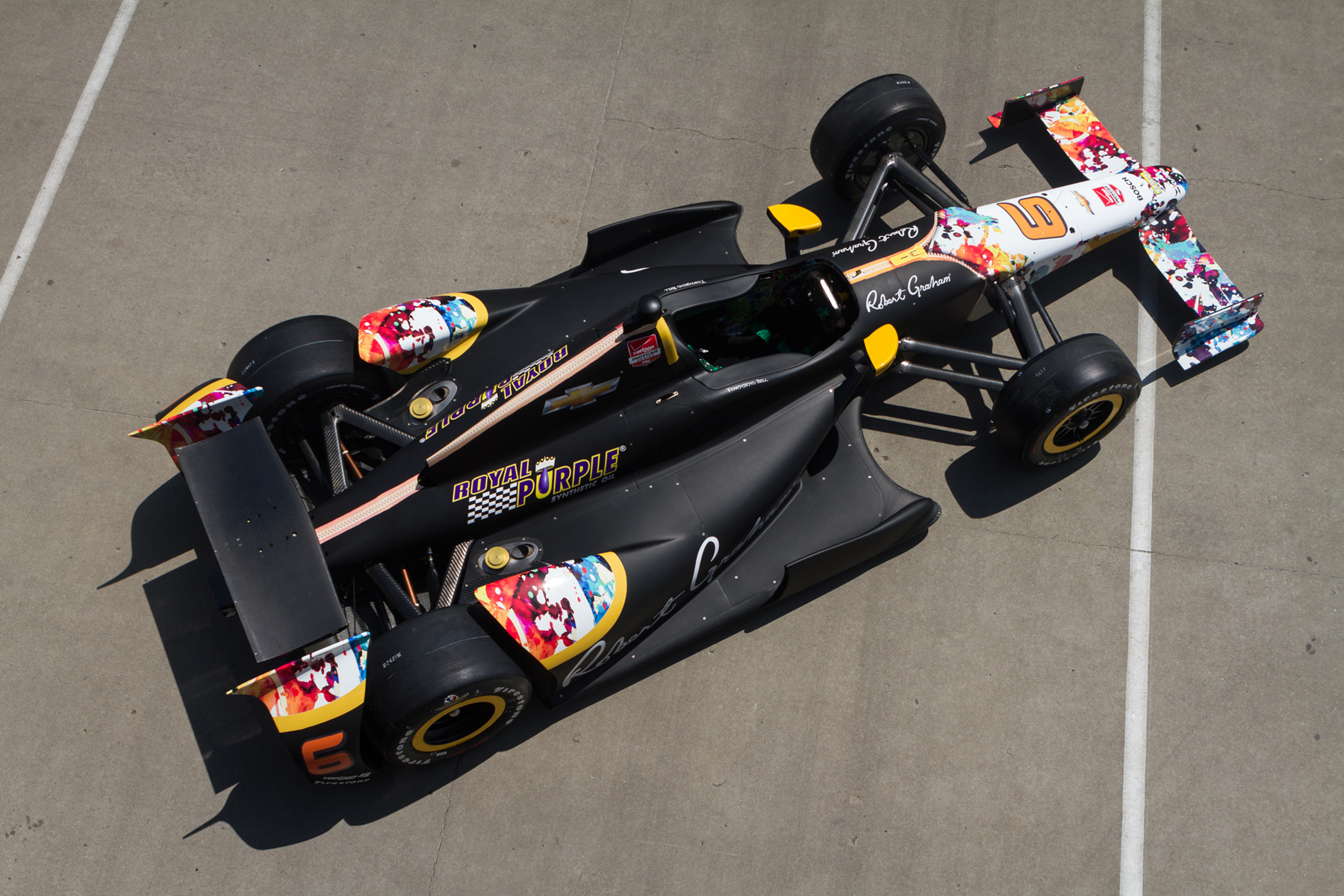 Royal Purple returns to the Indianapolis 500 with its sponsored No. 6 KV Racing Technology Chevrolet