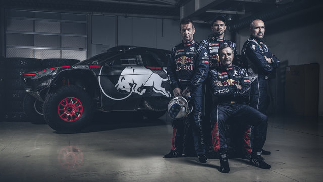 Sebastien Loeb, Cyril Despres, Carlos Sainz, Stephane Peterhansel