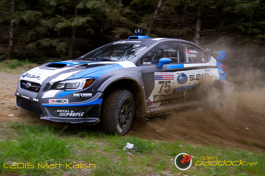 Higgins and Drew at 2015 Olympus Rally