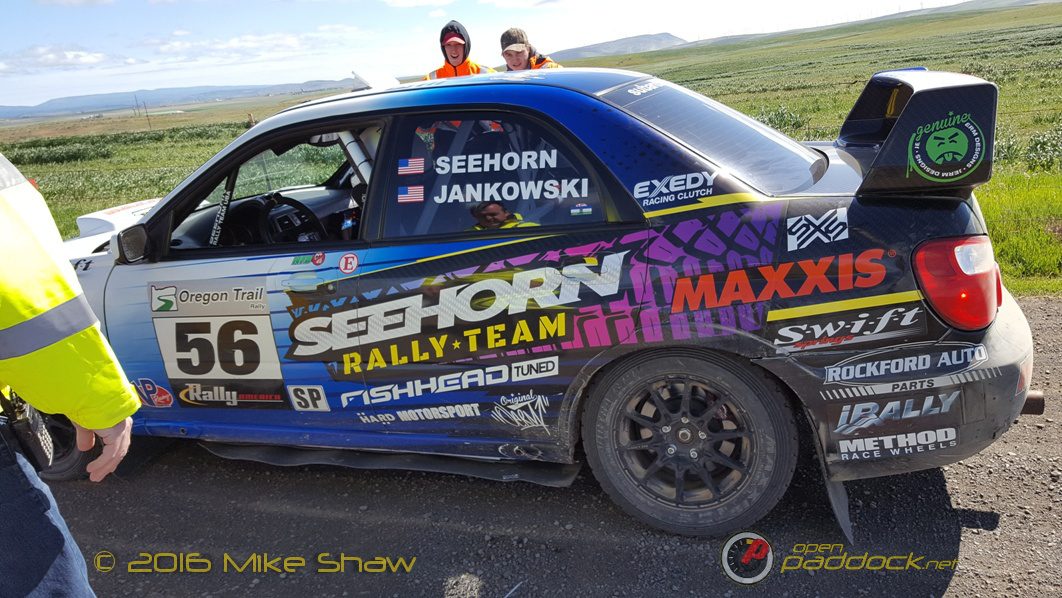 Even a stripped rear strut couldn't prevent Seehorn and Jankowski from winning almost every stage in their class